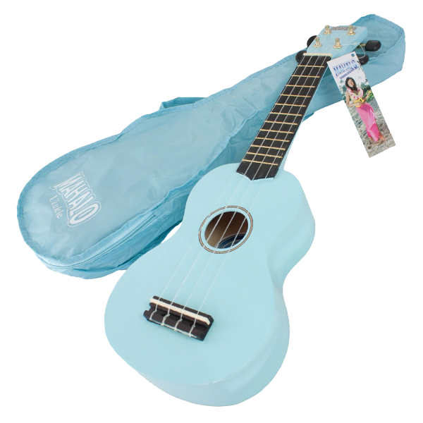 ukulology mahalo soprano ukulele light blue with bag ukulology. Black Bedroom Furniture Sets. Home Design Ideas